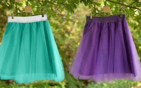 Ručně vyráběné tylové tutu sukně: 4 různé barvy