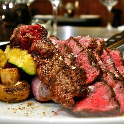 2 špičkové steaky v restauraci pivovaru Volt
