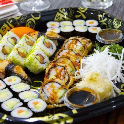 Sushi sety se 34 či 43 kousky: úhoř, losos i krab