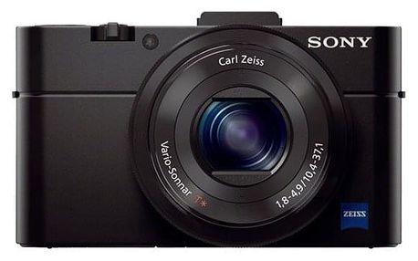 Digitální fotoaparát Sony Cyber-shot DSC-RX100 II černý + dárek Příslušenství pro fotoaparáty Sony AG-R2B pro RX100 černá v hodnotě 390 Kč + DOPRAVA ZDARMA