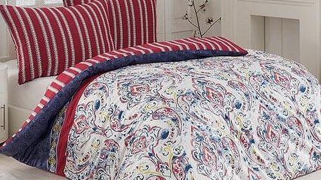 Night in Colours Bavlněné povlečení Versage modrá, 140 x 200 cm, 70 x 90 cm