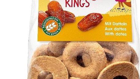 3x HOLLE Dětské Bio Ovocné kroužky s datlemi, 125 g (3+)
