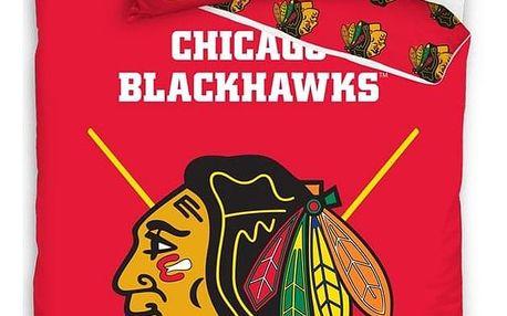 BedTex Bavlněné svíticí povlečení NHL Chicago Blackhawks, 140 x 200 cm, 70 x 90 cm