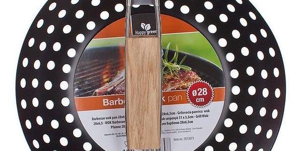 HAPPY GREEN Pánev grilovací wok BBQ 28 x 6,5 cm2