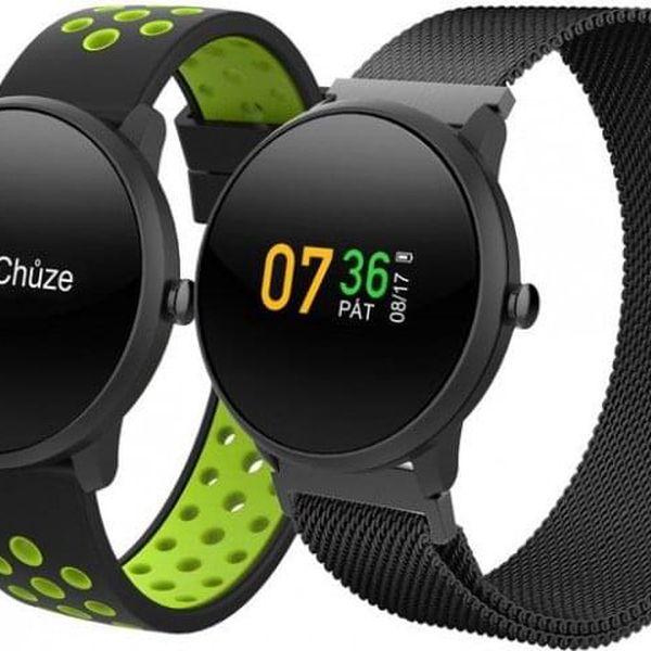 Chytré hodinky iGET Fit F4, 2 řemínky, černá