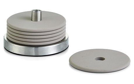 Silikonová podložka pod sklenice v šedé barvě - 7 ks, 10 x 6 cm, ZELLER