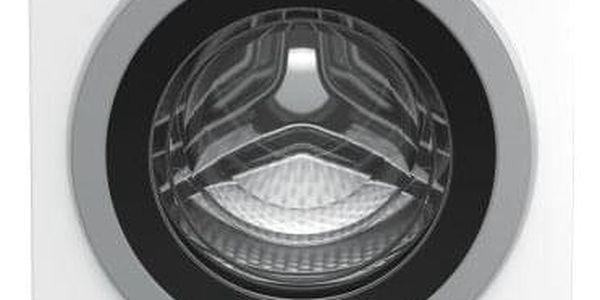 Automatická pračka se sušičkou Beko HTV 8733 XS0 stříbrná/bílá
