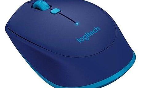 Myš Logitech Bluetooth Mouse M535 modrá (/ optická / 3 tlačítka / 1000dpi) (910-004531)