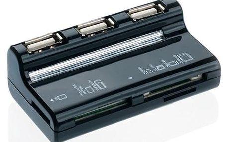 USB Hub Connect IT USB 2.0 / 3x USB 2.0 + microSD + SD černý (CI-87)