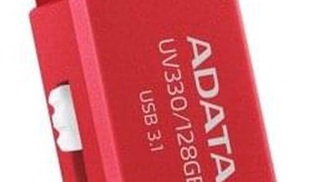 USB Flash ADATA UV330, 64 GB, červený (AUV330-64G-RRD)