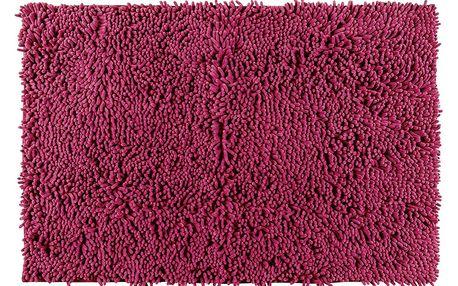 Koupelnový kobereček CHENILLE, malinová barva, 80 x 50 cm, WENKO
