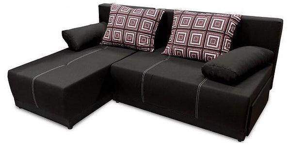 Rohová sedačka rozkládací Picolo I univerzální roh ÚP černá