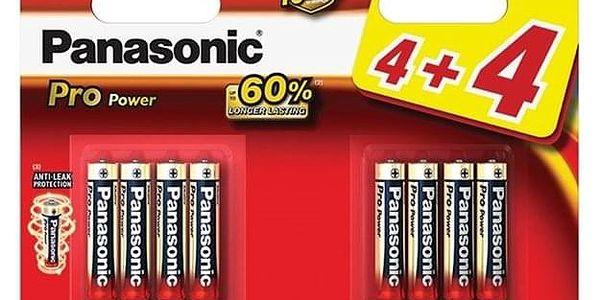 Baterie alkalická Panasonic Pro Power AAA, LR03, blistr 4+4ks (LR03PPG/8BW)
