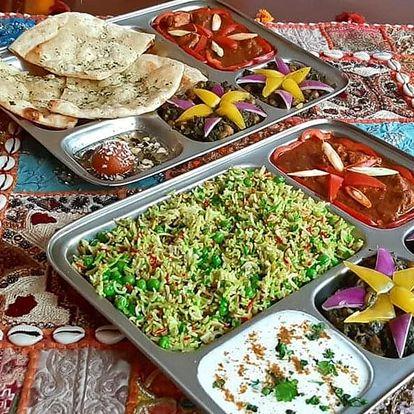 Smlsněte si na indické kuchyni: nabité menu pro 2