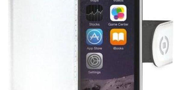 Pouzdro na mobil flipové Celly Wally pro Apple iPhone 6/6s bílé (WALLY700WH)
