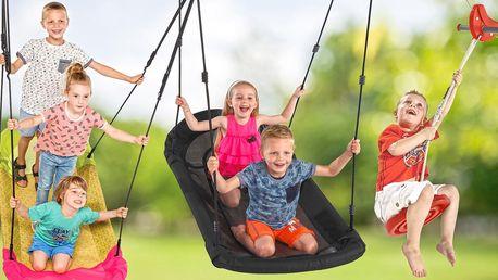Zábava na zahradu: dětská houpačka i lanovka