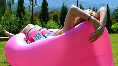 Sedací vak Lazy Bag HooUp pink