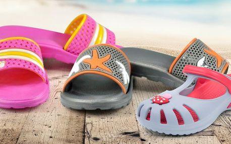 Dětské pantofle Clogsy ve veselých barvách