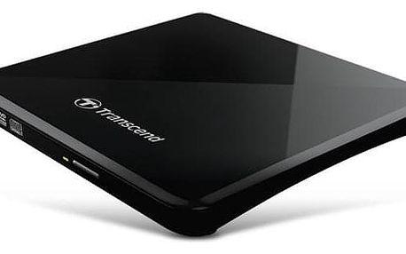 Externí DVD vypalovačka Transcend Extra Slim Portable CD/DVD Writer černá (TS8XDVDS-K)
