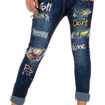 Dámské stylové jeansy Mozzaar