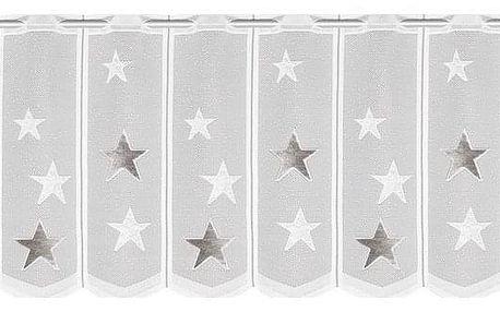 Albani Dětská záclona Hvězdy, 140 x 45 cm