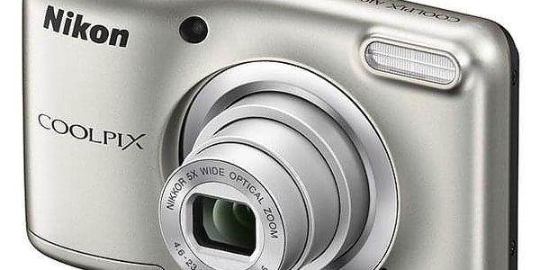 Digitální fotoaparát Nikon Coolpix A10 stříbrný
