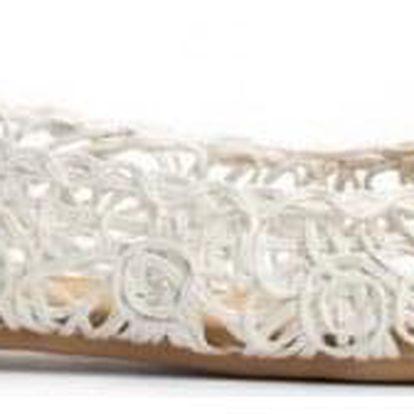 Bílé baleríny Cocora 3305