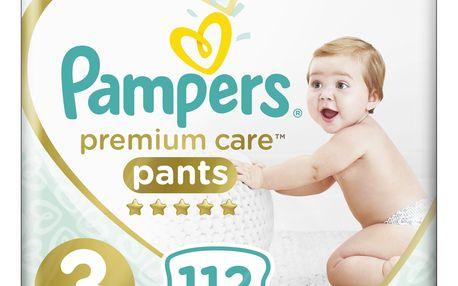 PAMPERS Premium Care Pants 3 MIDI (6-11 kg) 112 ks MEGA BOX – plenkové kalhotky