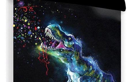 Jerry Fabrics Bavlněné povlečení Dinosaur Black, 140 x 200 cm, 70 x 90 cm