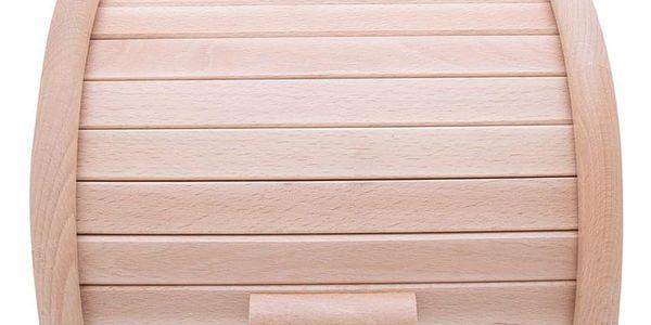 Dřevěný chlebník, box na chleba, 23x28x18cm, ZELLER2