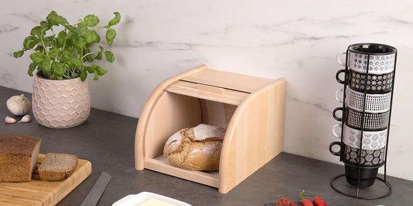 Dřevěný chlebník, box na chleba, 23x28x18cm, ZELLER