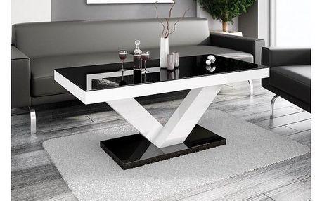 Konferenční stolek Victoria mini (černá lesk+bílá lesk)