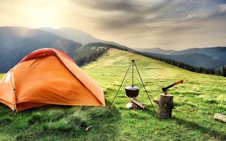 Outdoorový zážitek - přespání ve stanu v Krkonoších pro dva až do konce roku 2020