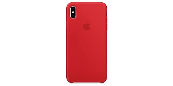 Kryt na mobil Apple Silicone Case pro iPhone Xs Max - (PRODUCT)RED červený (MRWH2ZM/A)
