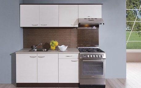 Kuchyně Nina - 210 cm (woodline creme/dub tmavý)