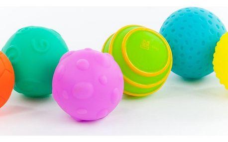 TEDDIES Sada gumových míčků s texturou 6 ks
