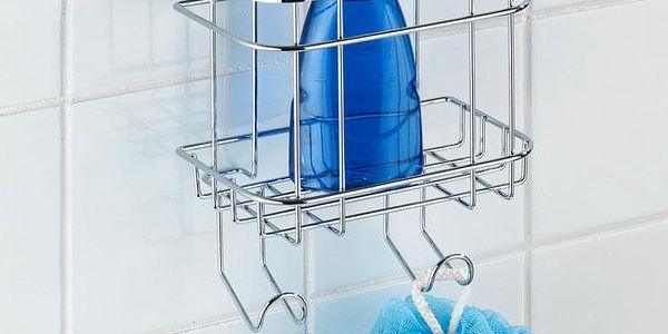 Koupelnový košík do sprchového koutu Turbo-Loc, 2 háčky - nerez ocel, WENKO2