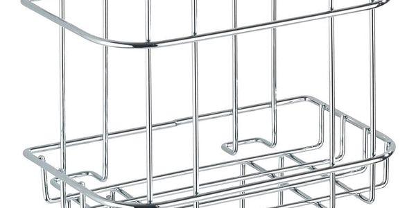 Koupelnový košík do sprchového koutu Turbo-Loc, 2 háčky - nerez ocel, WENKO3