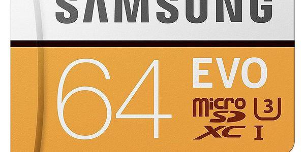 Paměťová karta Samsung 64GB UHS-I U3 (100R/60W) + adaptér (MB-MP64GA/EU  )3