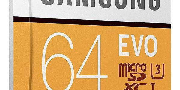 Paměťová karta Samsung 64GB UHS-I U3 (100R/60W) + adaptér (MB-MP64GA/EU  )4