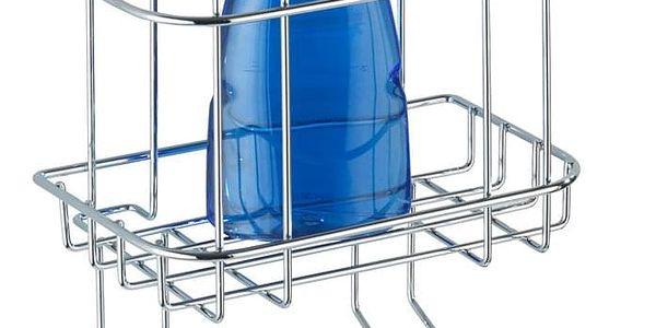 Koupelnový košík do sprchového koutu Turbo-Loc, 2 háčky - nerez ocel, WENKO