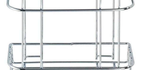 Koupelnový košík do sprchového koutu Turbo-Loc, 2 háčky - nerez ocel, WENKO5