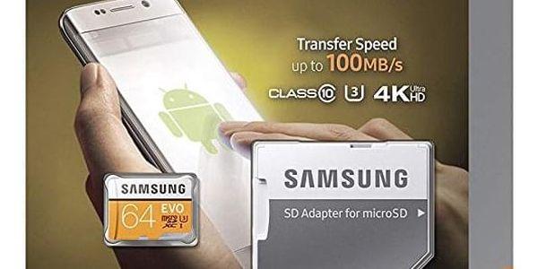 Paměťová karta Samsung 64GB UHS-I U3 (100R/60W) + adaptér (MB-MP64GA/EU  )5