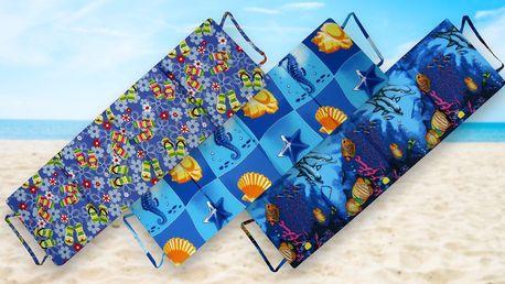 Měkká skládací plážová lehátka na dovolenou