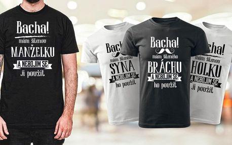 Vtipná bavlněná trička pro kluky a pány