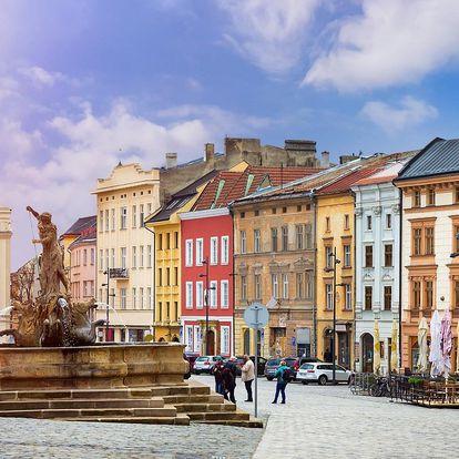 Pobyt s poznáváním Olomoucka a s jídlem pro dva