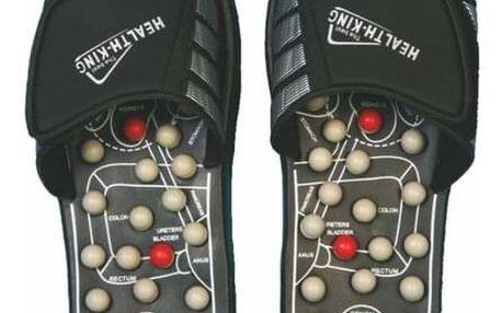 Akupresurní masážní pantofle suché zipy nanotextilie s magnety - SJH 314A vel. M