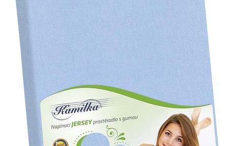 Bellatex Jersey prostěradlo Kamilka světle modrá, 100 x 200 cm