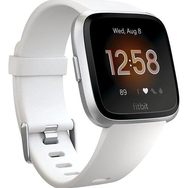 Chytré hodinky Fitbit Versa Lite - White Band / Silver Case (FB415SRWT)2