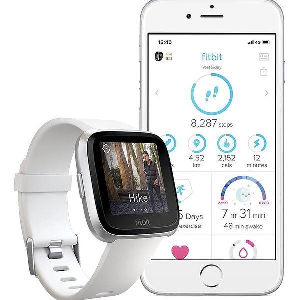 Chytré hodinky Fitbit Versa Lite - White Band / Silver Case (FB415SRWT)3